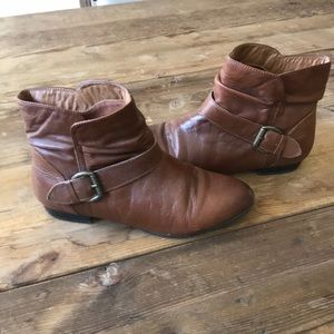 Aldo brown booties 6.5